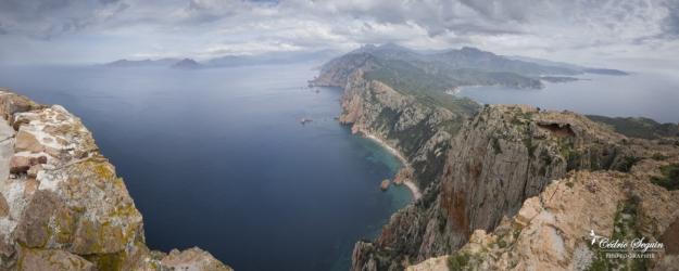 La côte depuis le Capu Rossu